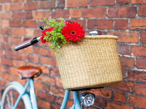 BULI: Natural Oblong Bike Basket - The Basket Room   - 6
