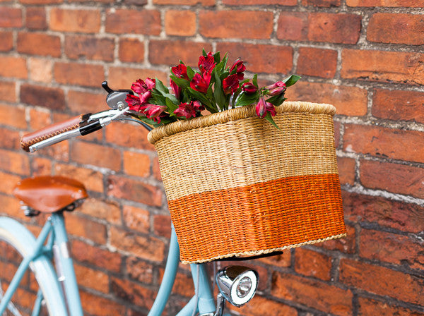 ATIA: Orange Tiered Bike Basket - The Basket Room   - 1