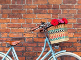 ASHANTI: Rectangular Multicoloured Bike Basket - The Basket Room   - 7