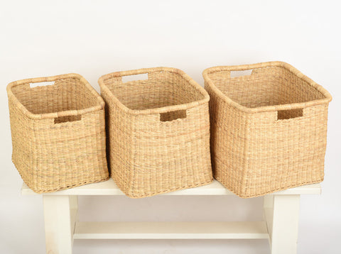 MRABA: Natural Square Baskets - The Basket Room   - 1