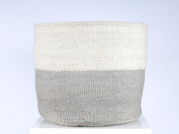 ITALE: XL Grey Storage Basket - Colour Block - The Basket Room