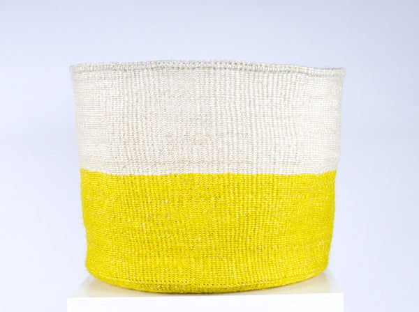 Alizeti: XL Yellow Storage Basket