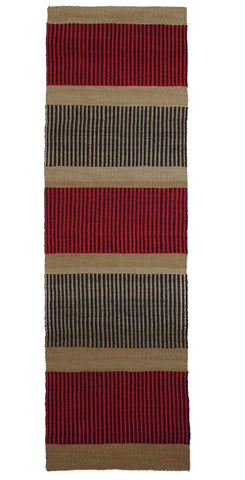 PANA: Natural, Raspberry & Black Woven Sisal Floor Runner