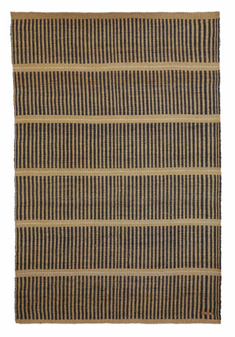 KICHANA: Large Natural & Black Woven Sisal Rug