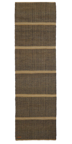 KICHANA: Natural & Black Woven Sisal Floor Runner
