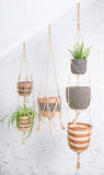 PADMA: 1-Tier Jute Macrame Plant Hanger - Accessory - The Basket Room