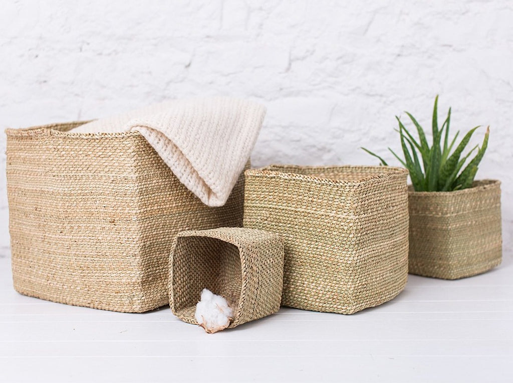 Genial ... RAHISI: Natural Square Storage Baskets   Milulu Baskets   The Basket  Room
