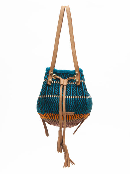 PIMA: Handwoven Blue and Brown Backpack