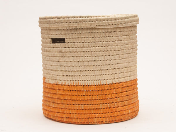 WAPI : Orange Colour Block Lidded Laundry Basket