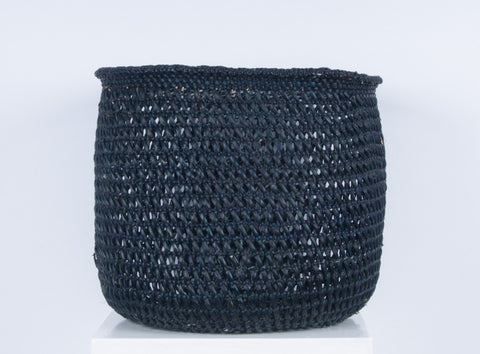 WAVU: Black Open Weave Storage Baskets