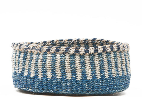 MOJA: Blue and White Bread Basket