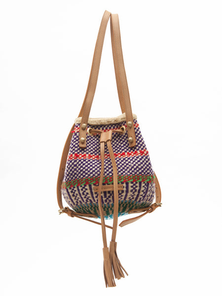 ONJA: Handwoven Purple and Red Backpack