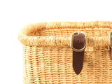 FUMSO: Handcrafted Rouge and Natural Bike Basket