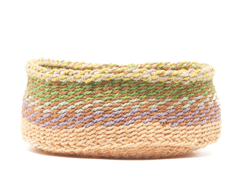 SARAKASI: Purple, Green and Orange Patterned Bread Basket