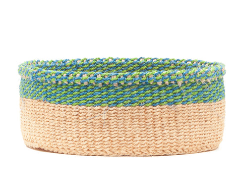 MUSA: Turquoise and Green Rim Bread Basket