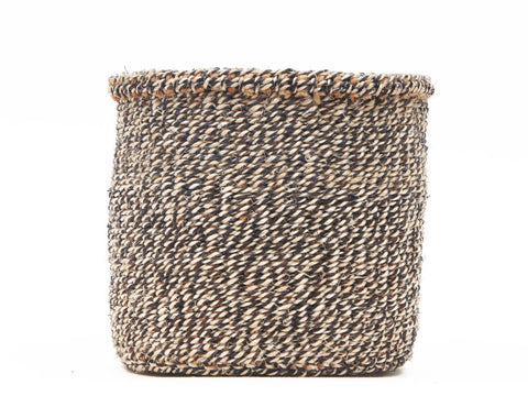 LABDA: Small Black Sisal Basket