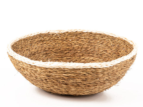 Natural White Rim Bread Basket