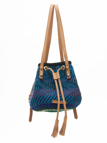 HERI: Handwoven Blue and Black Backpack