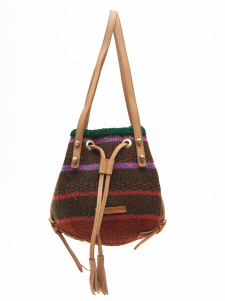 FANAKA: Handwoven Purple, Red and Green Backpack