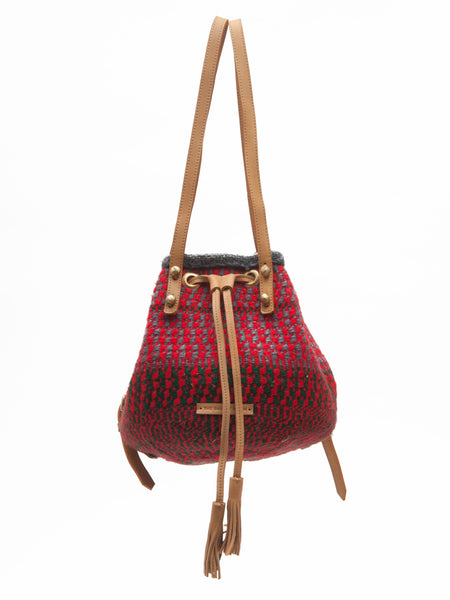 FYEKA: Handwoven Grey and Red Backpacks