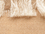 NDEVU: Small Natural Fringed Basket Bag