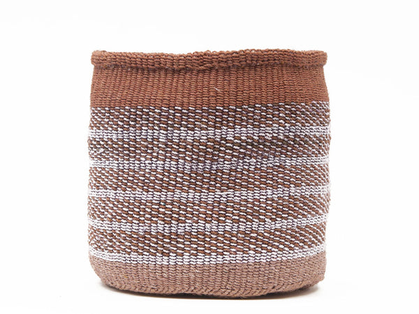 NUKA: Large Brown and Grey Sisal Basket