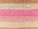 UHURU: Small Natural & Pink Sisal Basket