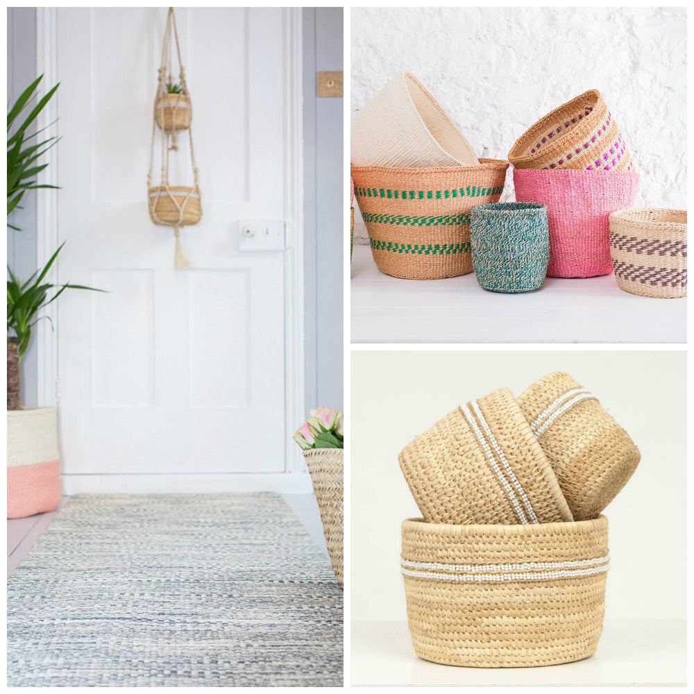 New Neutrals & Colourful African Sisal Baskets | Handwoven Fairtrade Storage