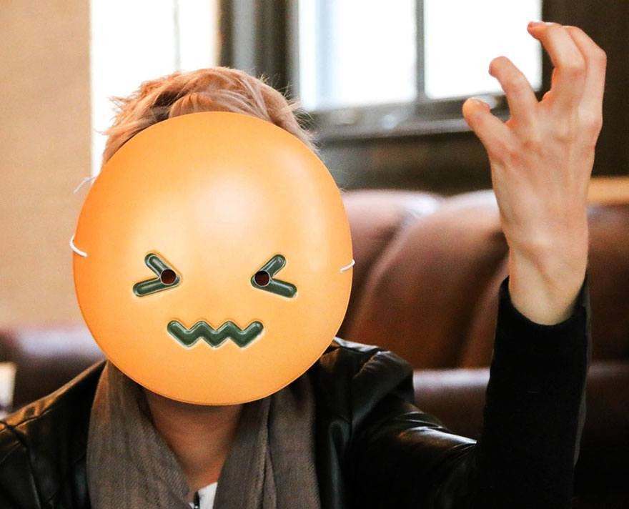 Confounded Emoji Mask