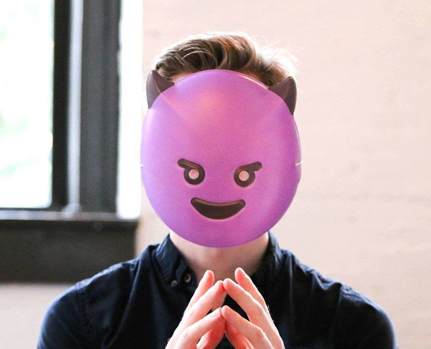 Evil Guy Emoji Mask