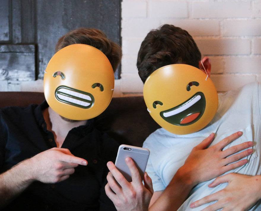 laughing emoji mask