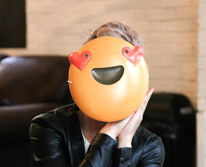 Heart Eyes Emoji Mask