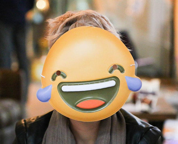 Laughing Tears Emoji Mask