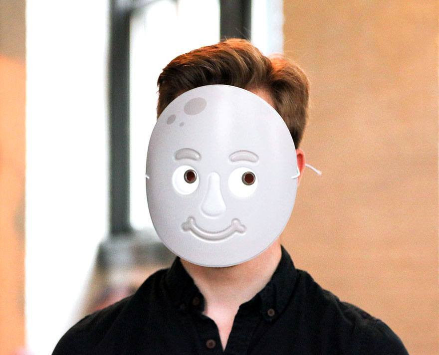 Moon Face Emoji Mask