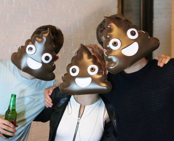Poop Emoji Mask Party Pack