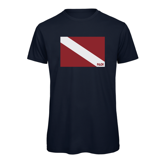 PADI Dive Flag Short Sleeve Tee - Navy Blue