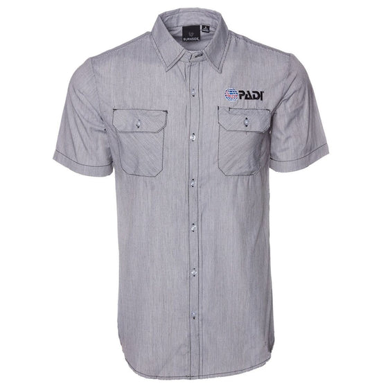 PADI Dobby Stripe Shirt - Grey