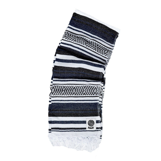 Blanket - PADI Upcycled Baja Blanket – Black/White/Navy