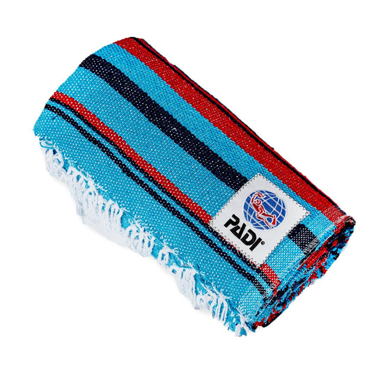 Blanket - PADI Upcycled Baja Blanket – Red/Navy/Turquoise