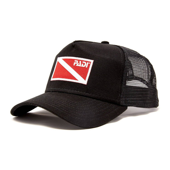 Cap - Diver Down Trucker Hat With Red/White Flag