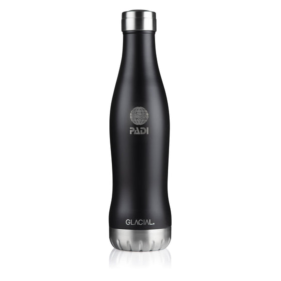 Drinkware - GLACIAL Matte Black 20 Oz. Bottle