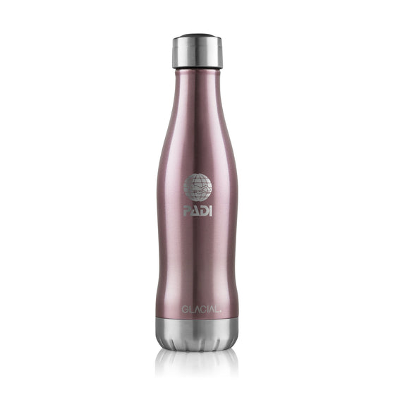 Drinkware - GLACIAL Metallic Pink 13.5 Oz. Bottle