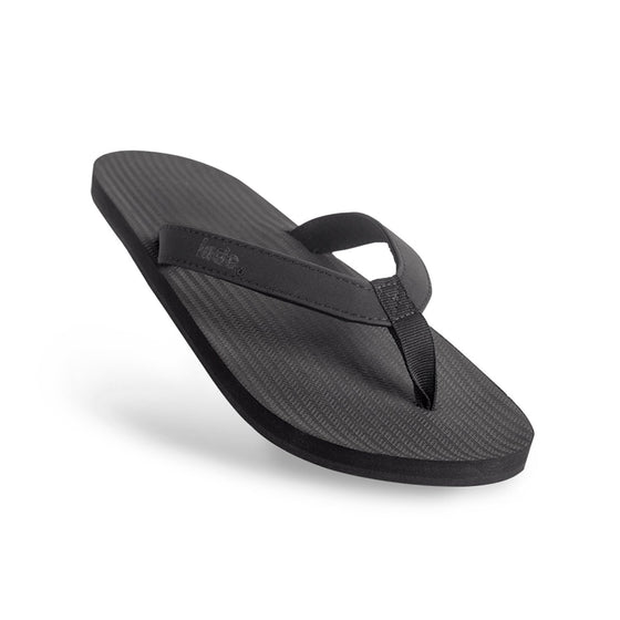 Footwear - Indosole Men's ESSNTLS Flip Flops - Black