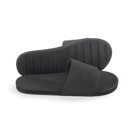 Footwear - Indosole Men's Slides - Black