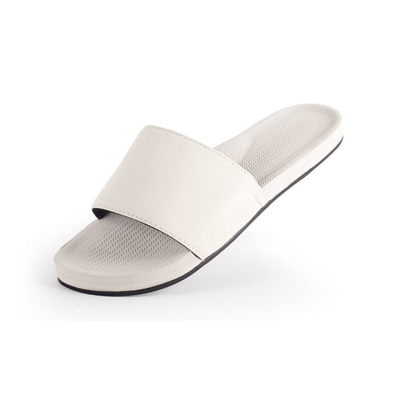 Footwear - Indosole Women's Slides - Sea Salt