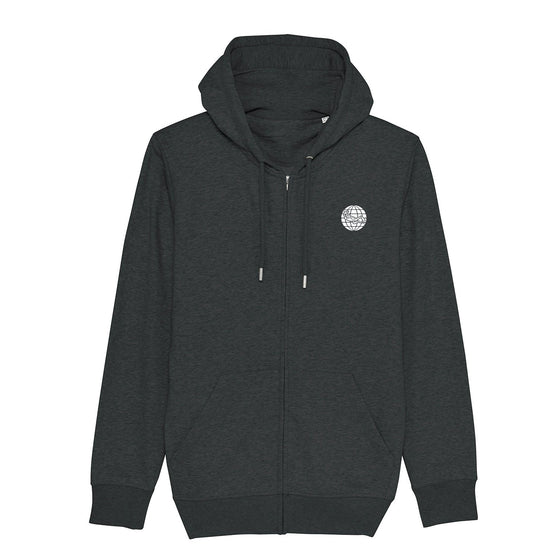 Hoodie - Torn Dive Flag Eco-Friendly Hoodie - Dark Heather Grey