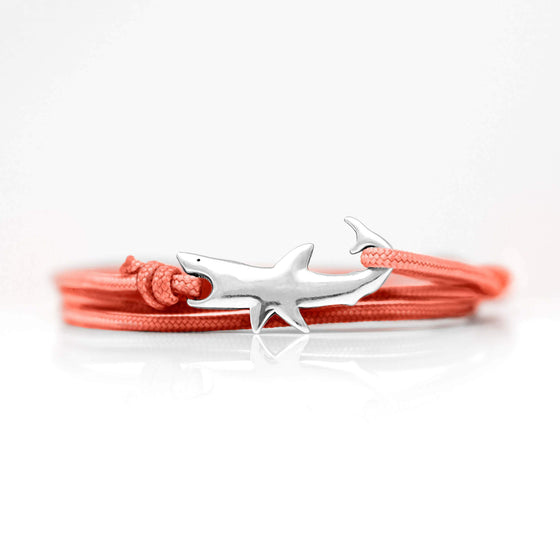Jewelry - Bracelet - Great White Clasp Sterling Silver Coral Sunrise