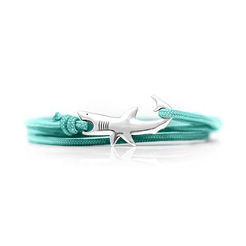 Jewelry - Great White Shark Bracelet – Sterling Silver/Teal