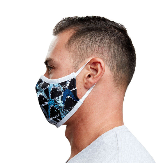 Mask - Great White Shark Recycled Plastic Cloth Face Mask + 5 Filters