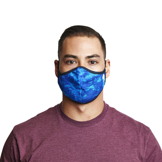 Mask - Ocean Depths 3-Layer Face Mask Made From Recycled Plastic W/ Filter Pocket